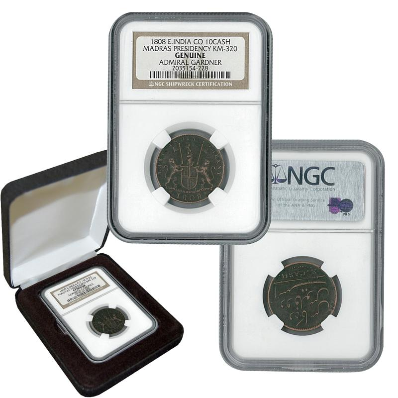Coin Collector East India Company $10 Coin from the Gardiner Shipwreck