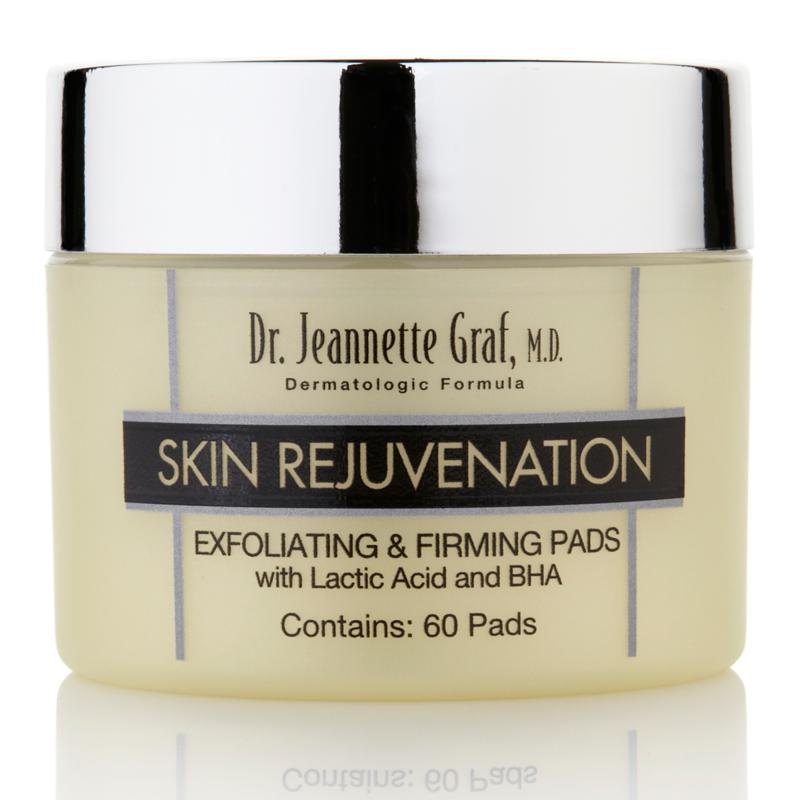 Dr. Jeannette Graf, M.D. Skin Rejuvenation Exfoliating and Firming Pads with Lactic Acid and BHA