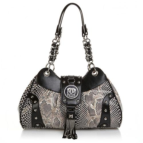 Sharif Embellished Fringed Shopper with Leather Trim