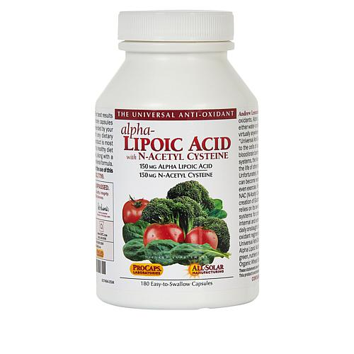 Alpha Lipoic Acid with N-Acetyl Cysteine - 180 Capsules
