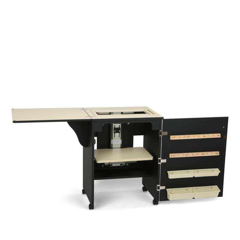 Arrow Tables Arrow Compact Airlift Sewing Machine Cabinet - Black