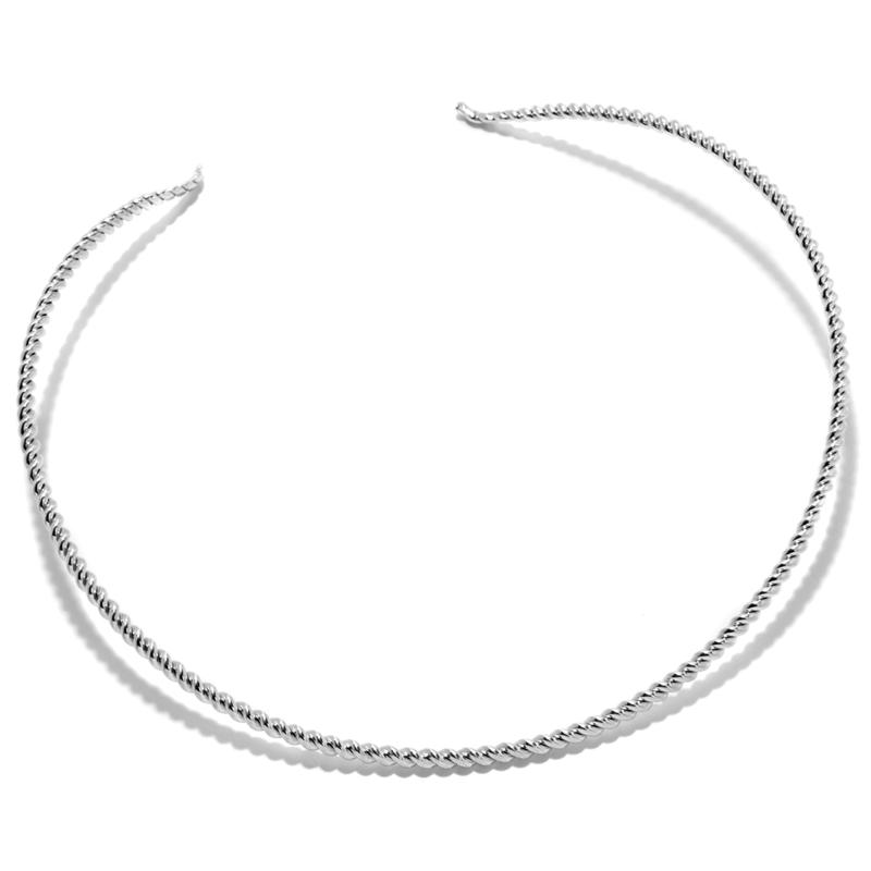 Mine Finds by Jay King Jay King Sterling Silver Rope Twist Collar Necklace