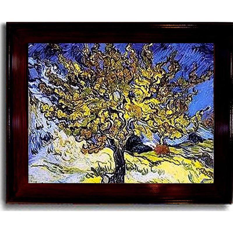 Home Marketplace Mulberry Tree by Vincent van Gogh