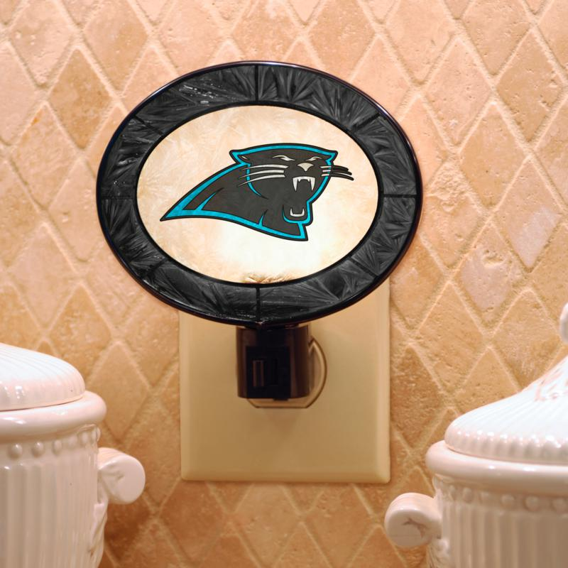 Football Fan Shop Team Glass Nightlight - Carolina Panthers