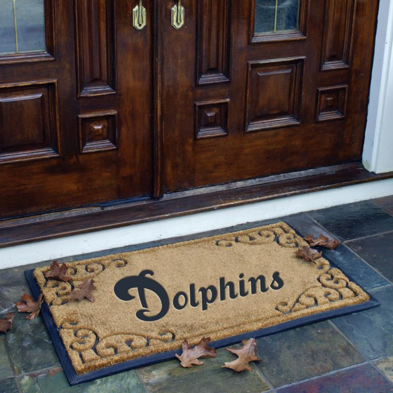 Football Fan Shop Door Mat - Dolphins