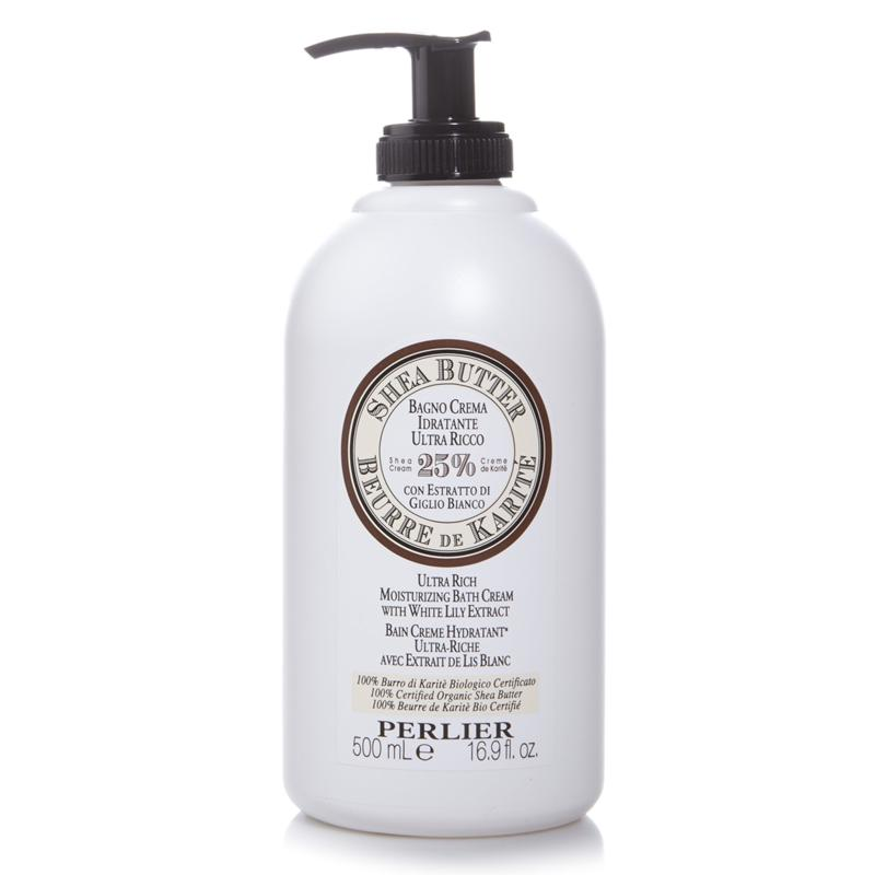 Perlier Perlier Shea Butter Ultra Rich Moisturizing Bath Cream with White Lily Extract