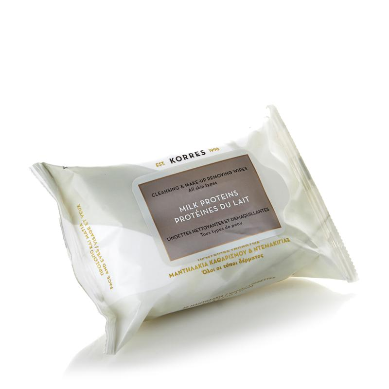 Korres Korres Milk Proteins Cleansing & Makeup Removing Wipes