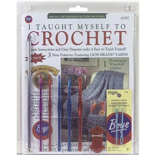 Boyle Needle Company Beginner's Crochet Kit - Book, Hooks and More
