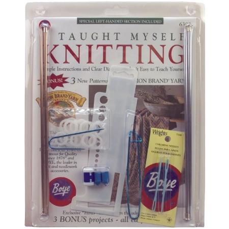 BOYE Beginners Knit Kit - Book, Needles and More
