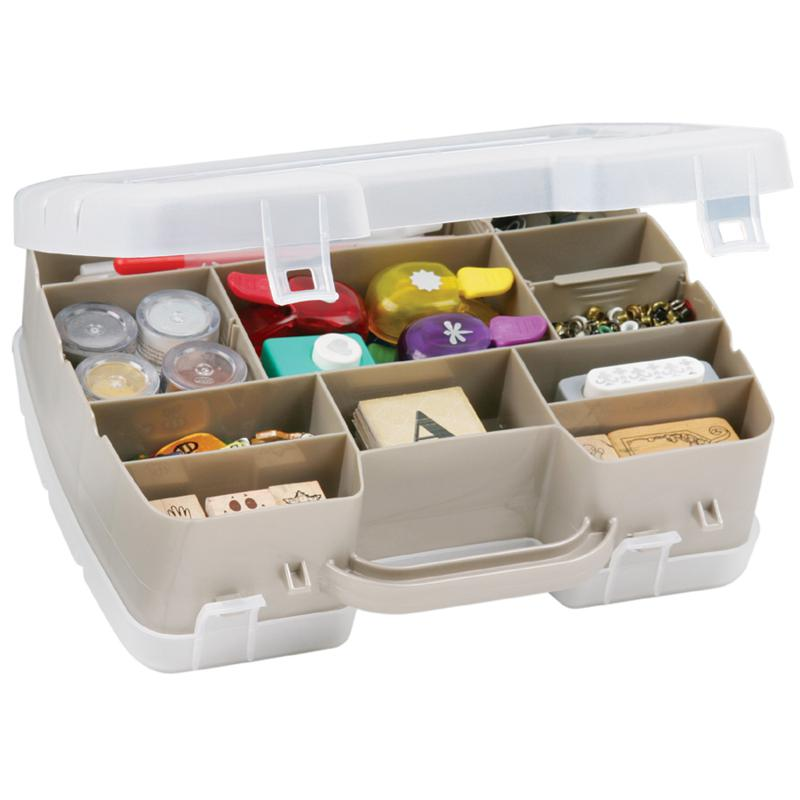ArtBin Flambeau Art Bin 2-Sided Satchel Compartment Box
