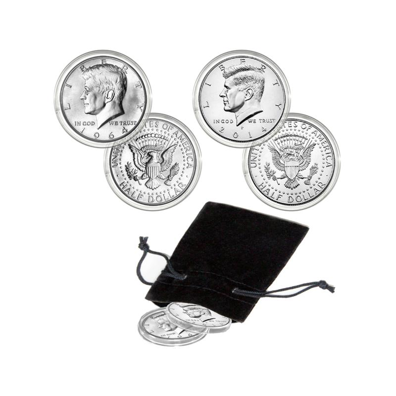 Coin Collector 1964 and 2014 Kennedy Half Dollar 50th Anniversary Set