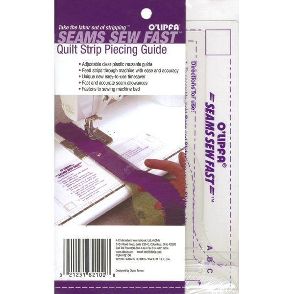 DRITZ Seams Sew Fast Quilt Strip Piecing Guide