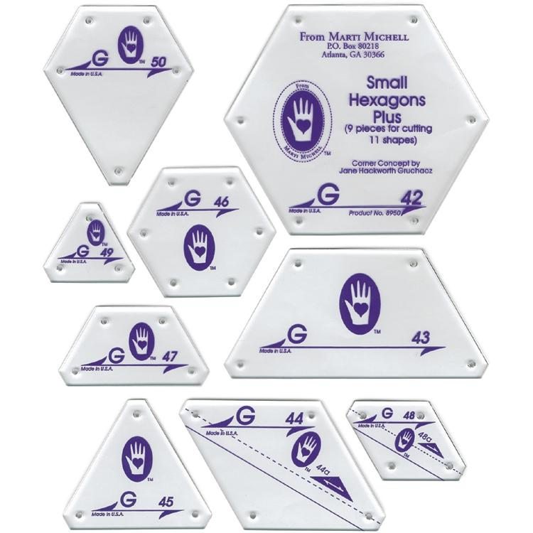 MARTI MICHELL Small Hexagon Shapes Set G