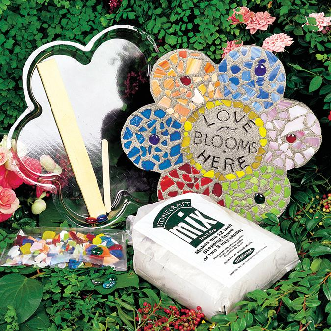 Midwest Products Mosaic Flower Stepping Stone Kit -