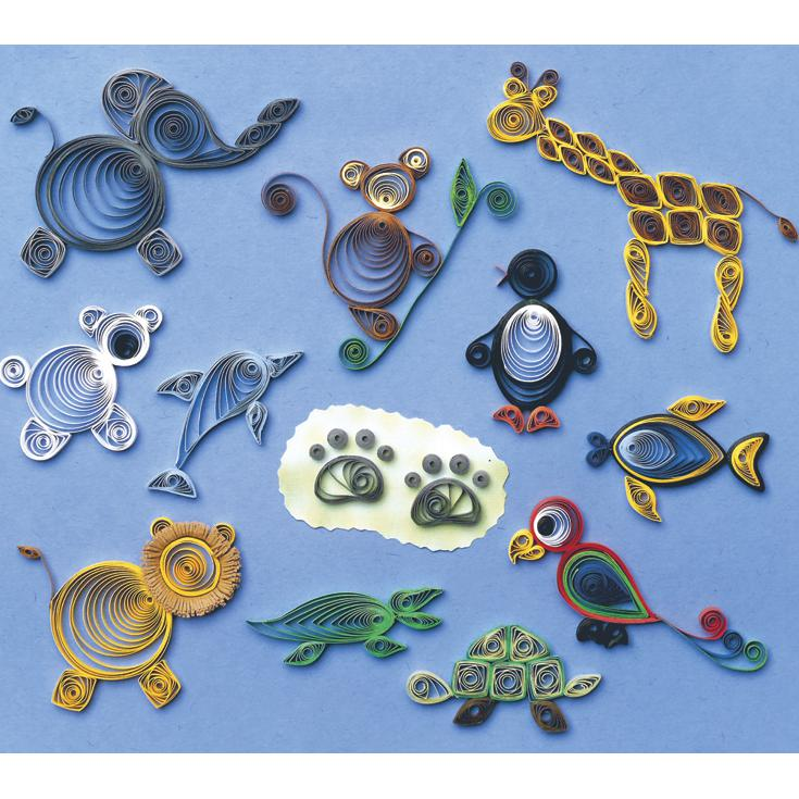 QUILLED CREATIONS Quilled Creations Quilling Kit - Zoo Animals