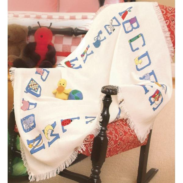 DMC Baby Alphabet Afghan Cloth