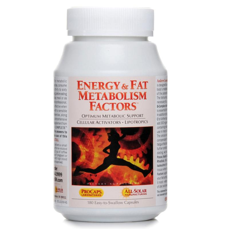 Andrew Lessman Energy & Fat Metabolism Factors - 180 Capsules