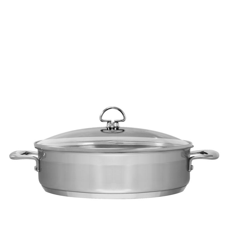 Chantal Chantal Induction 21 5-Quart Stainless Steel Sautéuse with Lid