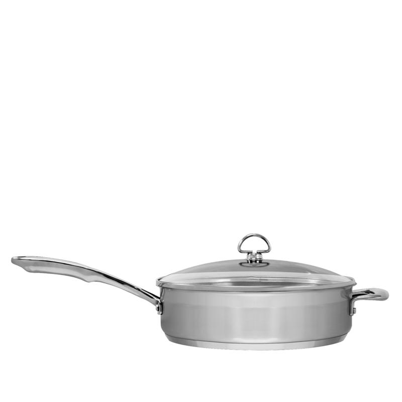 Chantal Chantal Induction 21 1.5-Quart Stainless Steel Sauté Skillet with Lid