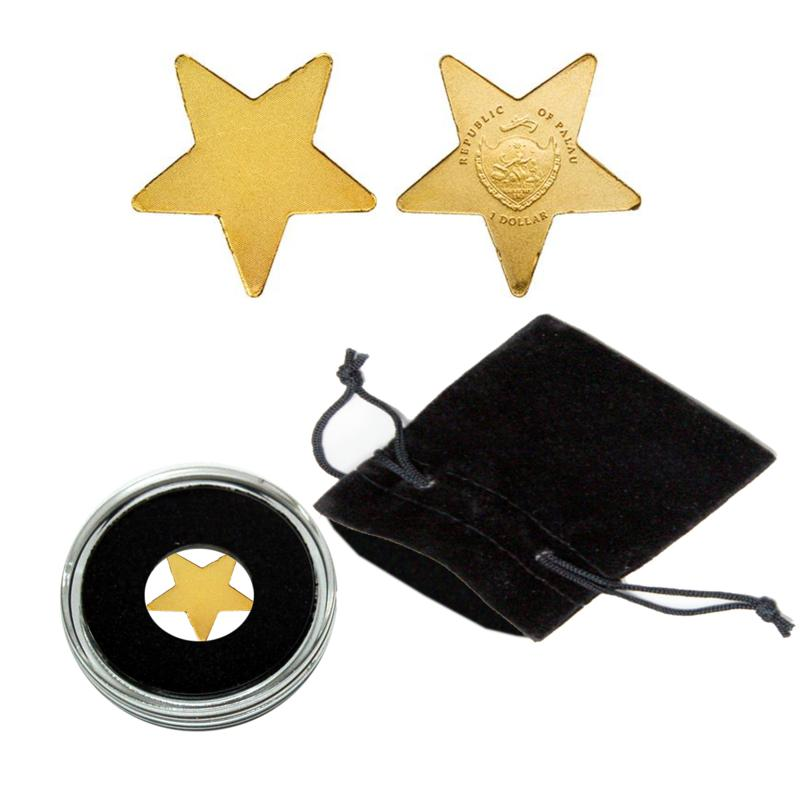 Coin Collector Golden Lucky Star .9999 Gold $1 Palau Coin