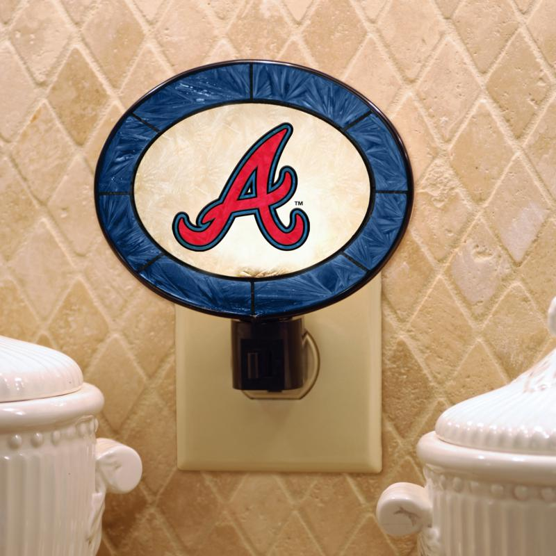 MEMORY Company Team Glass Nightlight - Atlanta Braves