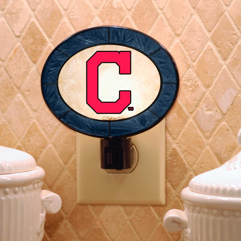 MEMORY Company Team Glass Nightlight - Cleveland Indians