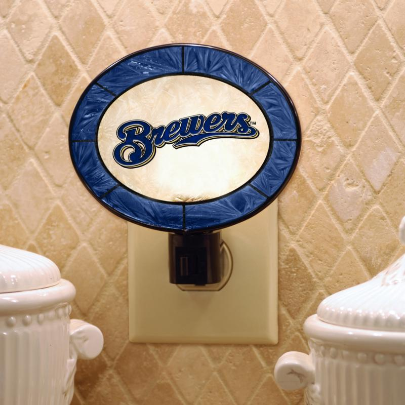 MEMORY Company Team Glass Nightlight - Milwaukee Brewers
