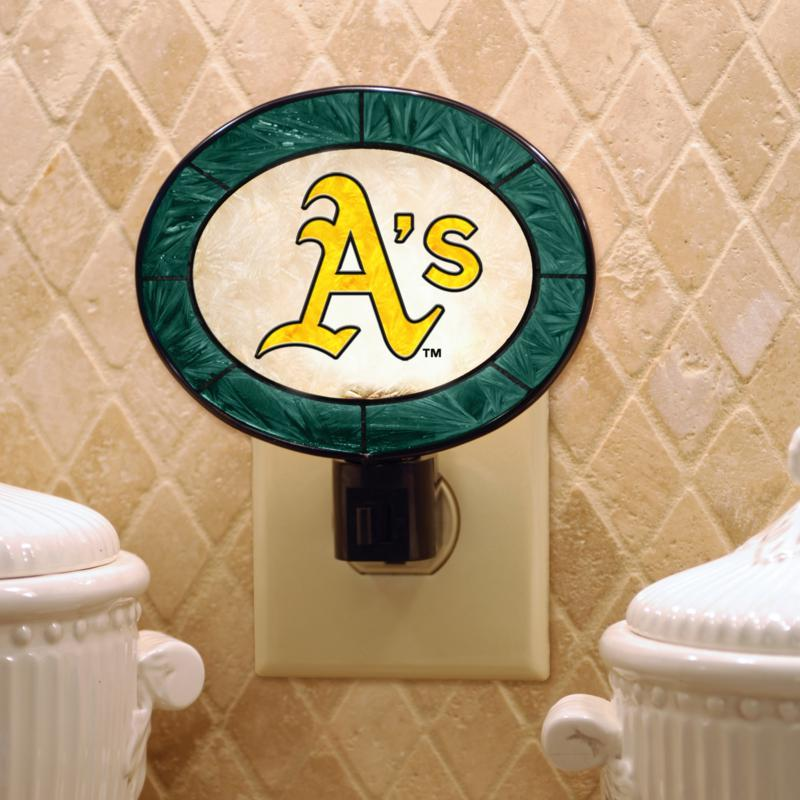 MEMORY Company Team Glass Nightlight - Oakland Athletics