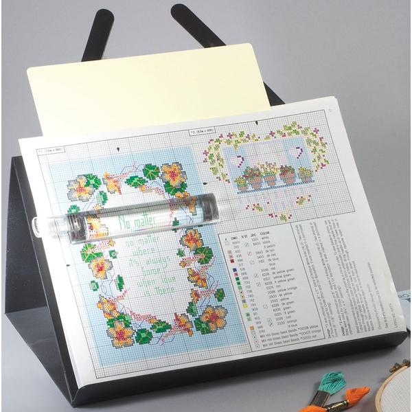 S A Richards PROP-IT Magnetic Needlework Chart Holder with Magnifier