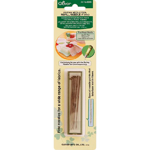 CLOVER Felting Tool Fine-Weight Refill Needle Pack