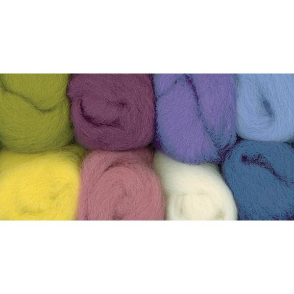WISTYRIA EDITIONS 100%-Wool Roving - 8 Pack