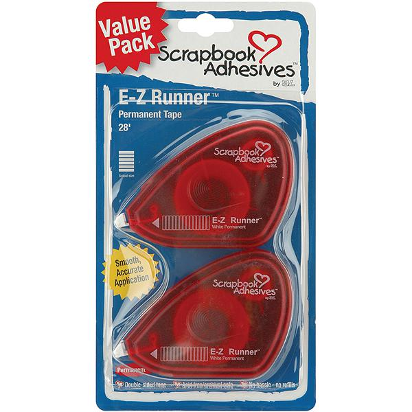 3L E-Z Runner Tape Value 2-Pack - 28' Permanent