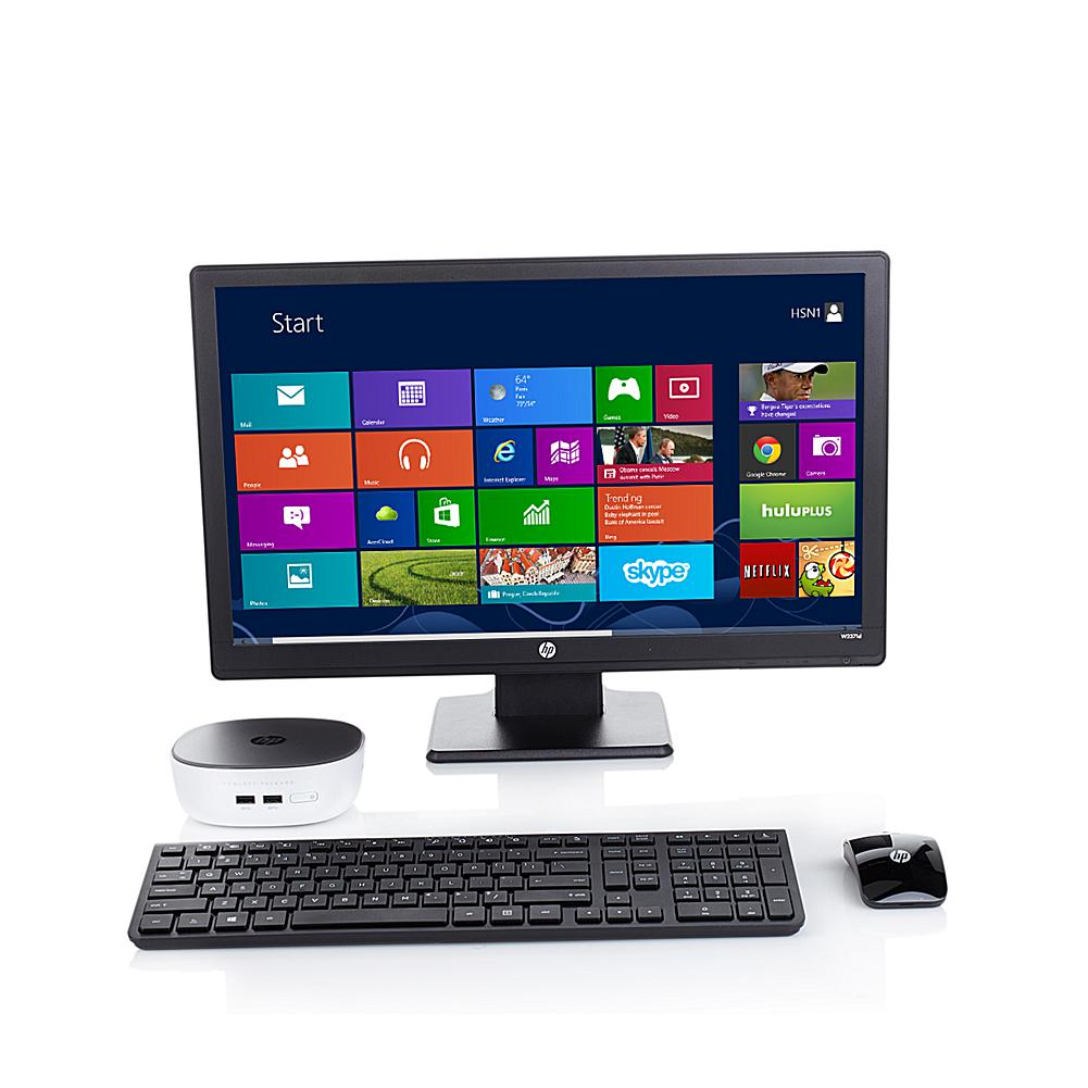 """Discount Electronics On Sale HP Pavilion Mini 4GB RAM/500GB HDD Intel Pentium Desktop Computer with 23"""" Full HD LED Monitor and Software"""