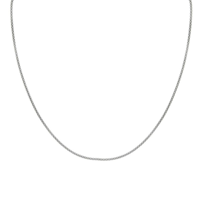 """""""""""""""DESIGNS BY FMC Sterling Silver Oxidized Popcorn Chain 18"""""""""""""""" Necklace"""""""""""""""