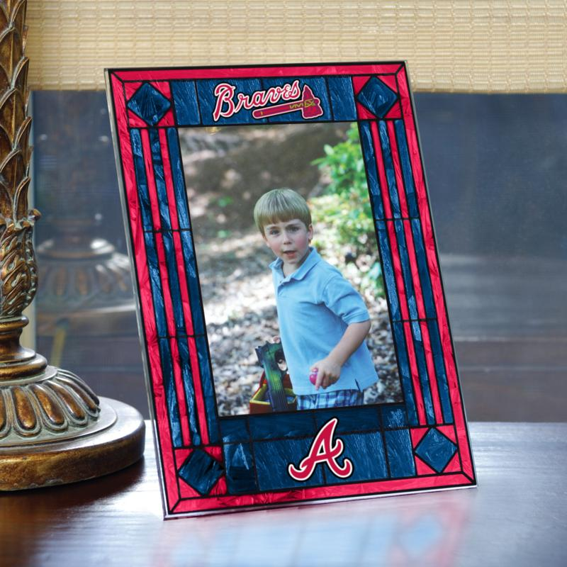 MEMORY Company Art Glass Team Photo Frame- Atlanta Braves - MLB