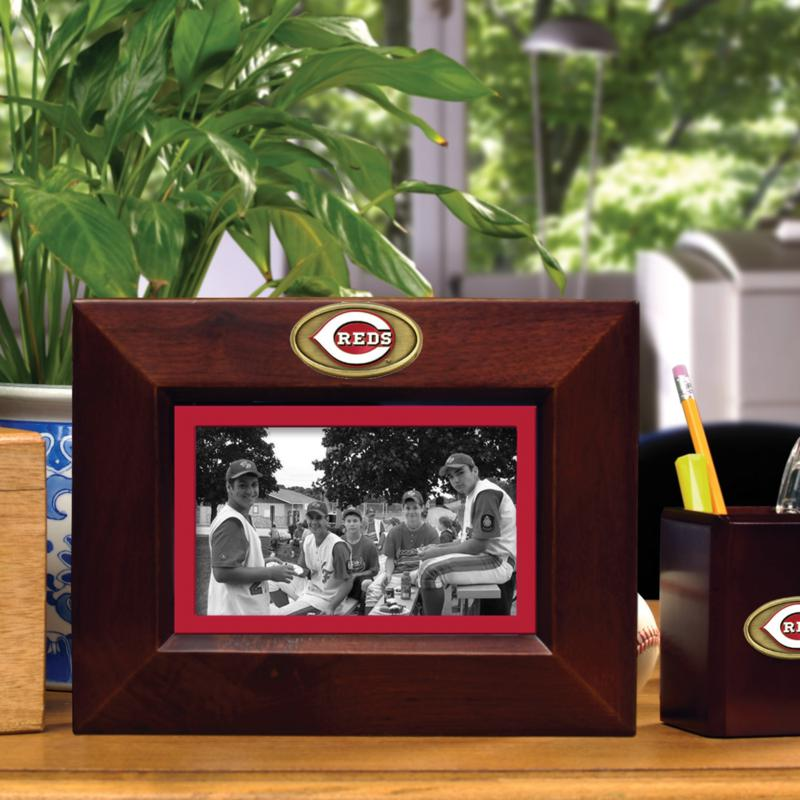 MEMORY Company Landscape Brown Picture Frame - Cinncinati Reds