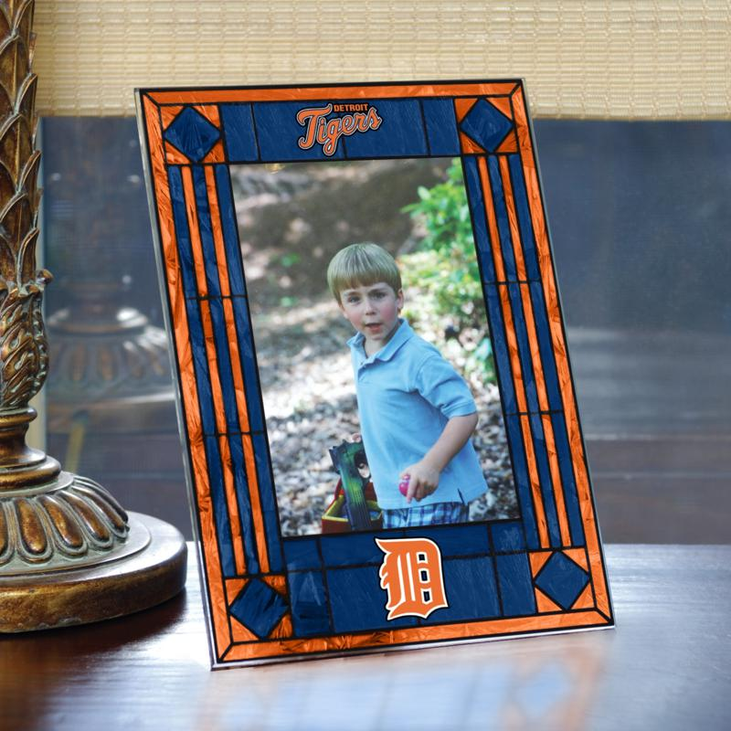 MEMORY Company Art Glass Team Photo Frame - Detroit Tigers - MLB
