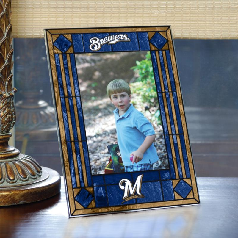 MEMORY Company Art Glass Team Photo Frame - Milwaukee Brewers - MLB