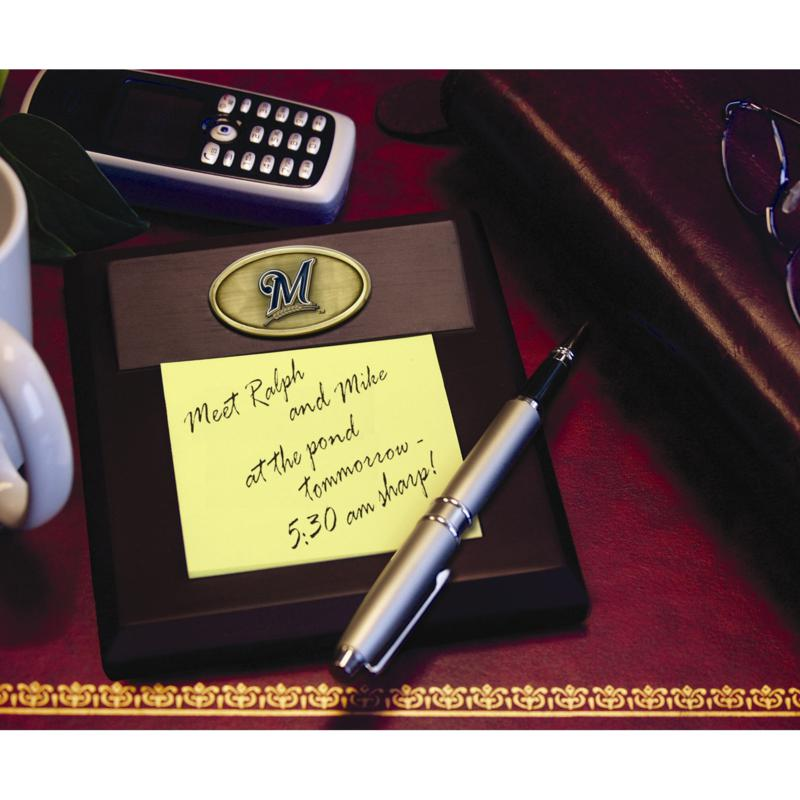 MEMORY Company Memo Pad Holder - Milwaukee Brewers - MLB
