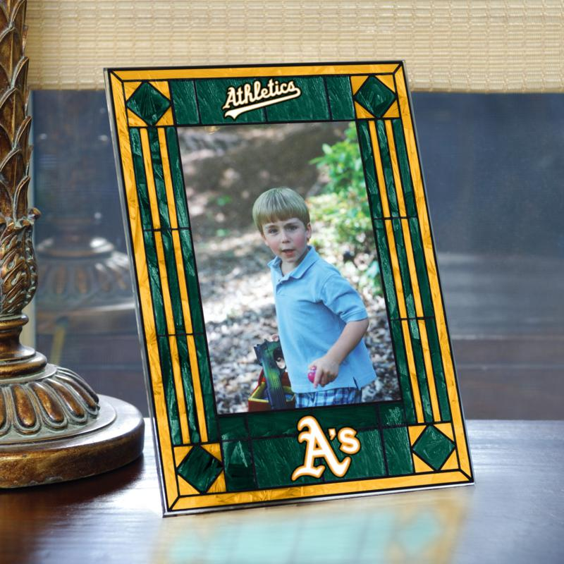 MEMORY Company Art Glass Team Photo Frame - Oakland Athletics - MLB