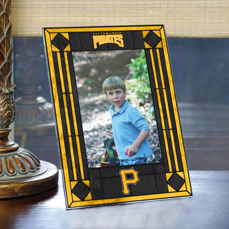 MEMORY Company Art Glass Team Photo Frame - Pittsburgh Pirates - MLB