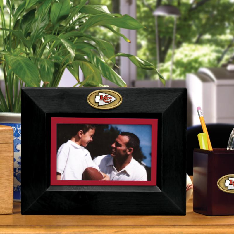 Football Fan Shop Landscape Black Picture Frame - Kansas City Chiefs, NFL
