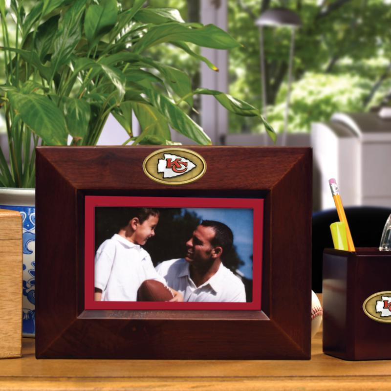 Football Fan Shop Landscape Brown Picture Frame - Kansas City Chiefs - NFL