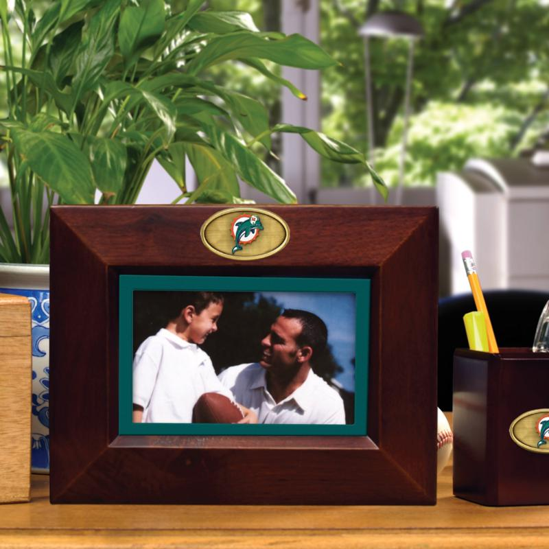 Football Fan Shop Brown Picture Frame - Miami Dolphins - NFL