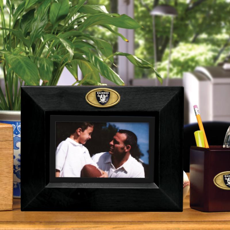 Football Fan Shop Landscape Black Picture Frame - Oakland Raiders - NFL