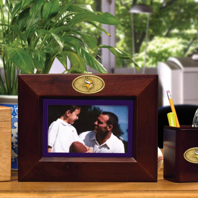 Football Fan Shop Landscape Brown Picture Frame - Minnesota Vikings - NFL