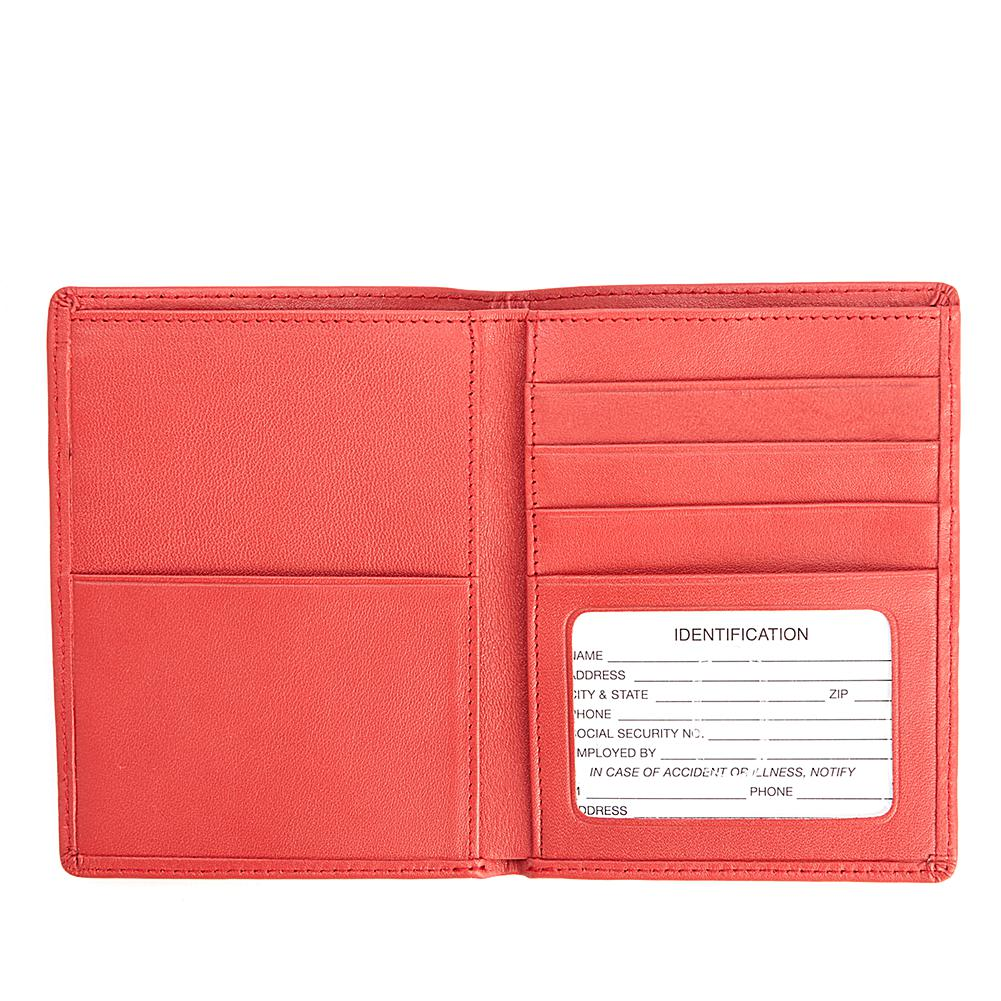 Royce RFID-Blocking Passport & Currency Leather Travel Wallet