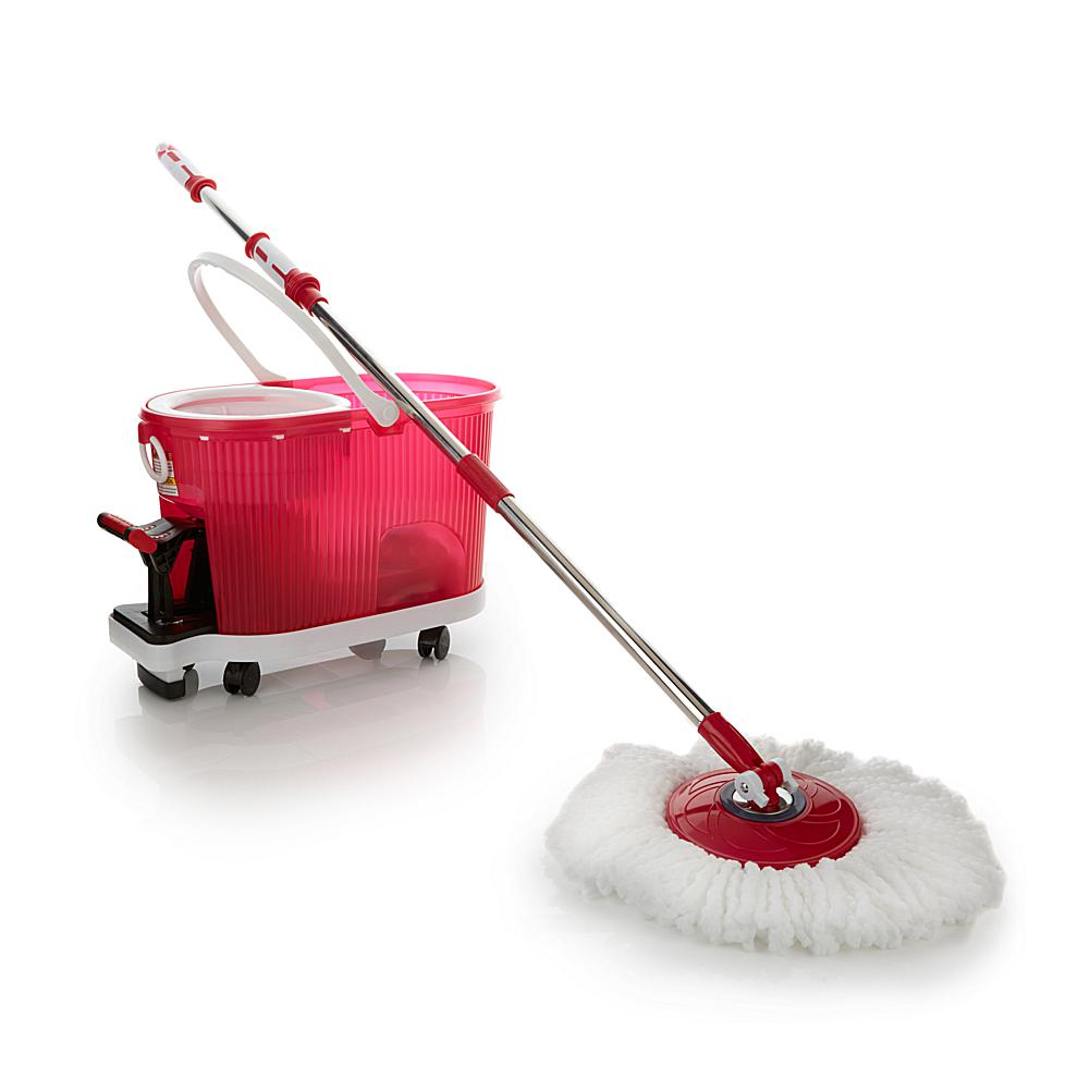 spin mop with dolly and soft grip handle deluxe hurricane spin mop ...