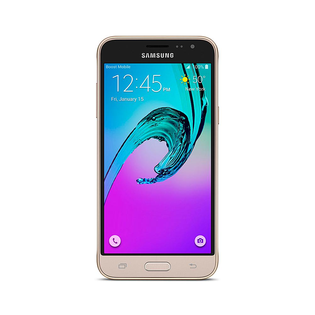 Samsung Galaxy J3 No-Contract Android Smartphone with Car Charger and Apps and Services - Boost Mobile