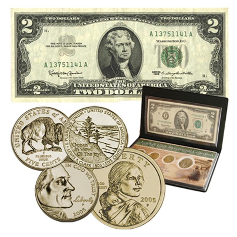 Coin Collector 2005 Lewis & Clark Commemorative Currency Set